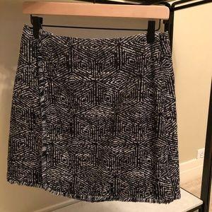 Banana Republic Mini Skirt, Black & White Tweed, 4